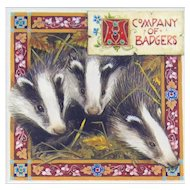 Miniature Painting by Debby Faulkner-Stevens-A Company of Badgers