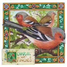 Miniature Painting by Debby Faulkner-Stevens-A Charm of Finches