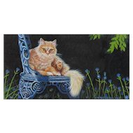 Original Miniature Painting by Carol P. Rockwell-Orange Tabby