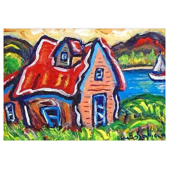 Original Acrylic Painting by Berge Missakian-July