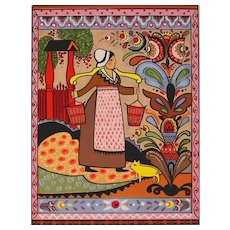 Folk Art - Summer Day by Louise August