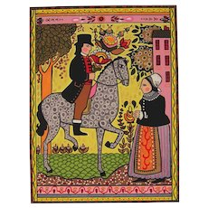 Folk Art - The Courtship by Louise August