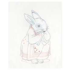 The Tale of Peter Rabbit & Benjamin Bunny-Animator's  Pencil Drawing