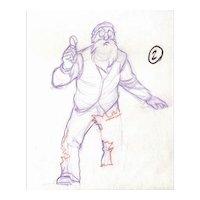 Mr. MacGregor-The Tale of Peter Rabbit & Benjamin Bunny-Animator's Pencil Drawing