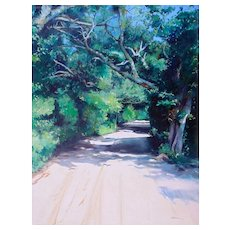 "Original Oil Painting by Listed Artist, Gregory Kavalec ""Howard Street in Ocracoke, NC"""