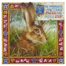 "Miniature Painting by Debby Faulkner-Stevens-""The Thunder Mutters"""