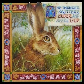 "Miniature Painting by Debby Faulkner-Stevens-""The Thunder Mutters"""