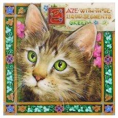 "Miniature Painting by Debby Faulkner-Stevens ""Liquid Segments Green"""