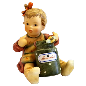 "Hummel #2249 ""Marmalade Lover"" with Green Pot-TMK 8"