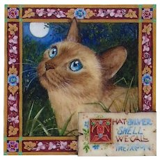 """Miniature Painting by Debby Faulkner-Stevens-""""That  Silver Shell We Call the Moon"""""""