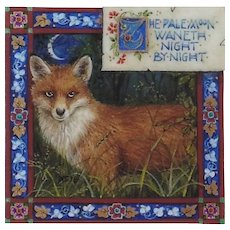 "Miniature Painting by Debby Faulkner-Stevens-""The Pale Moon Waneth Night By Night"""