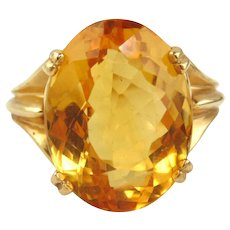 14kt Yellow Gold Ring with Citrine (12.37cts)