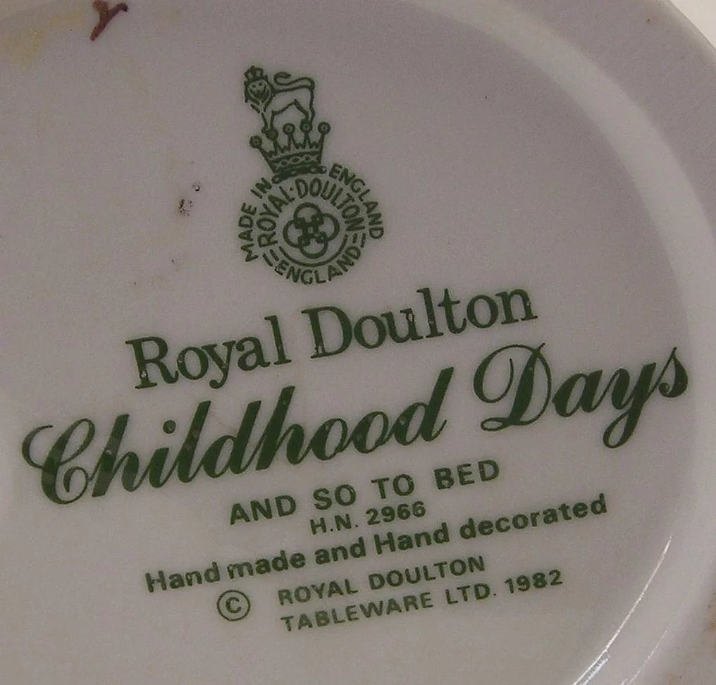 Royal doulton and so to bed young girl with teddy bear for And so to bed