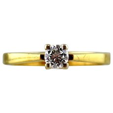 18kt Two-tone Gold Engagement Ring