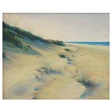 """Original Pastel Drawing , """"Timeless Dune"""" by Lori Goll"""
