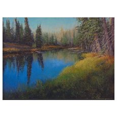 """Rare Jewel; Hanging Lake"" -Oil Painting by Contemporary Utah Artist, Travis R. Humphreys"