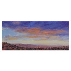 "Miniature Oil Painting by Travis R. Humphreys- ""Great Basin Sunset"""