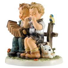 "M.I. Hummel Figurine #915  ""Tuning Up"" w/Postcard by Goebel"