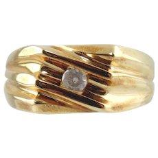 10kt Yellow Gold Man's Diamond  Ring