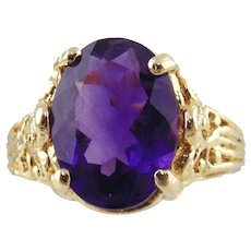 14kt Yellow Gold Lady's Amethyst Ring