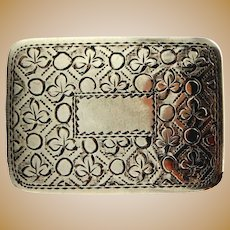 Antique Sterling Silver Vinaigrette- Joseph Willmore of Birmingham,  1827