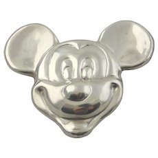 Mexican Silver Brooch-Mickey Mouse's Head