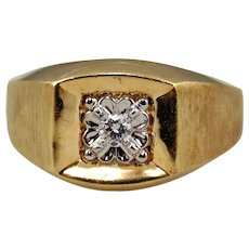 14kt Two-tone Gold & Diamond Man's Ring
