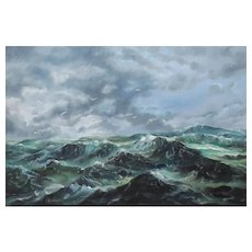 "Original Oil Painting by Bob Browne ""Edge of the Storm"""