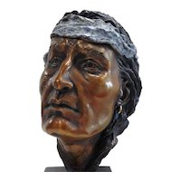 "Bronze Sculpture on Marble Base by Sharon ""Dee"" Shaughnessy- ""Echoes of A Nation"""