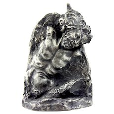 Pewter Sculpture by Sharon Shaughnessy: Hound of Arthemise(Artemis)