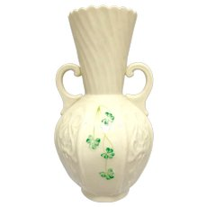 Urn Shaped Vase with Two Handles-Belleek