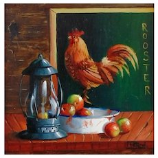 Miniature Oil Painting by Gail MacArgel-Poster Boy