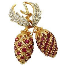 JBK Camrose & Kross Goldtone Berry Brooch