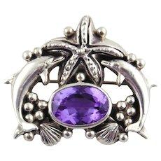 Carol Felley Sterling Silver Pin/Pendant-1997
