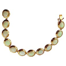 Ladie's Opal Bracelet-14K Yellow Gold