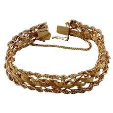 Ladie's Vintage  14K Yellow Gold Woven Bracelet (1960s)