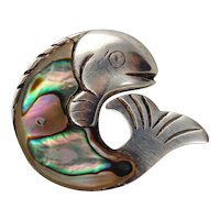William Spratling Sterling & Abalone Fish Pin