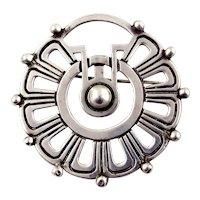 Rafael Melendez Sterling Silver Stylized Flower Pin/Pendant