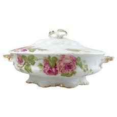 Vintage Porcelain Floral Covered Dish-R C Rosenthal