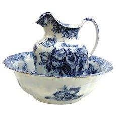"Vintage Wedgwood's ""Cattleya"" Semi-Porcelain 3 Pc Set-England"