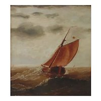 Late 19th - Early 20th Century Oil Painting-Seascape