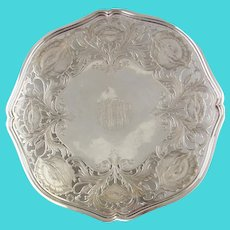 Vintage American Sterling Silver Cake Plate by Galt & Bro.