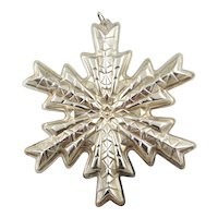 1978 Sterling Silver Snowflake Christmas Ornament by GORHAM