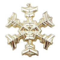1977 Sterling Silver Snowflake Christmas Ornament by GORHAM