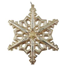 1983 Sterling Silver Snowflake Christmas Ornament by GORHAM