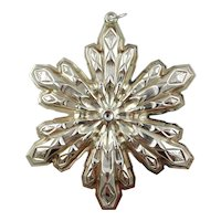 1974  Sterling Silver Snowflake Christmas Ornament by GORHAM