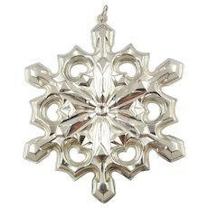 1979 Sterling Silver Snowflake Christmas Ornament by GORHAM