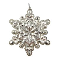 1971 Sterling Silver Snowflake Christmas Ornament by GORHAM