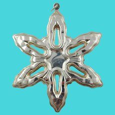 1986 Sterling Silver Snowflake Christmas Ornament by GORHAM