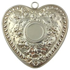 1988 Sterling Silver Victorian Heart Christmas Ornament by GORHAM